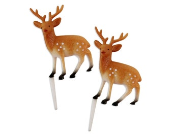 Large Deer Picks - 6 vintage inspired deer picks for topping cupcakes and cakes