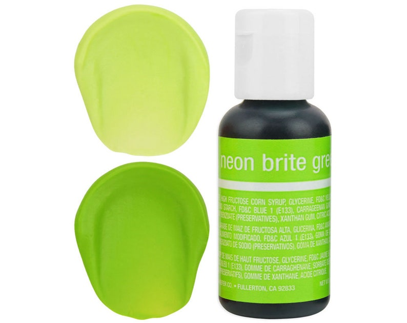 Neon Green Gel Food Coloring - Chefmaster - Neon Green Food Color, Bright  Green Coloring, Green Frosting, Green Icing, Cookie Cake