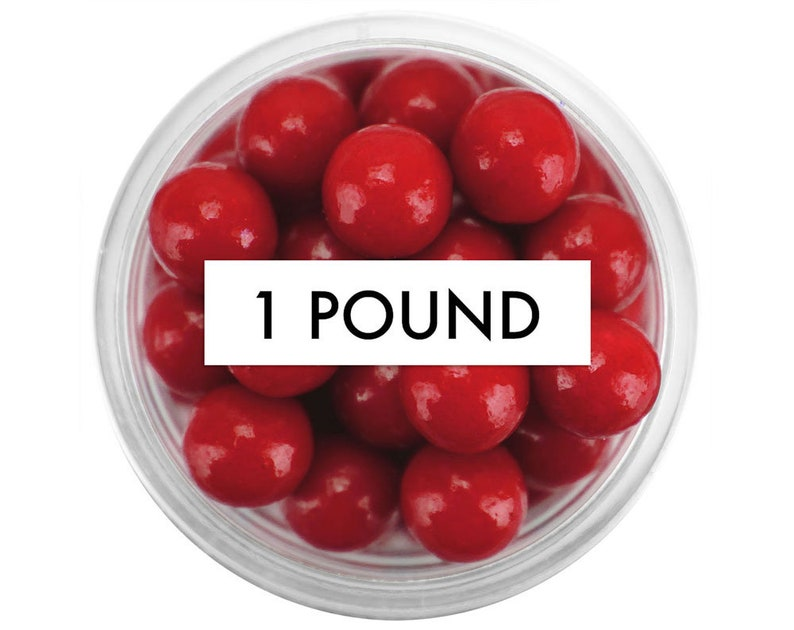 Red Sugar Pearls 8MM edible red sugar pearl sprinkles large red pearl sprinkles 1 Pound