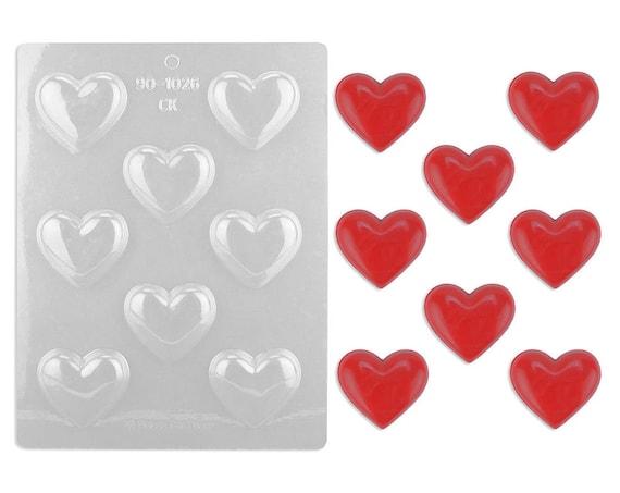2 Plain Heart Chocolate Mold Heart Chocolate Mold Etsy