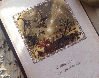 A Little Bee is Magical To See. Bee Greeting Cards x2 by Karen Davis