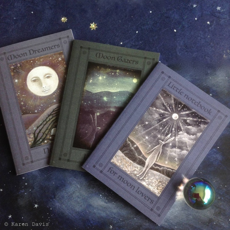 Notebooks 'for those who love the moon' x3. A6/C6 image 0