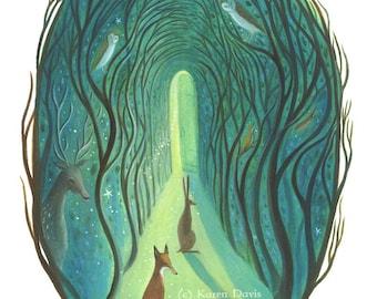 The Path. Art Print.