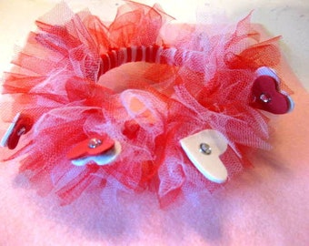 Red Heart Tulle removable collar