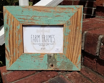 5 x 7 FUNKY old vintage wood picture frame
