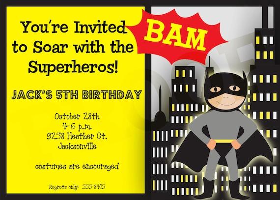 superhero party superhero birthday invitation superhero birthday
