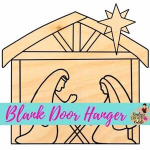 Christmas Moose Boy Door Hanger Blank Door hanger blanks blanks wood sign etched DIY unfinished wooden cutout
