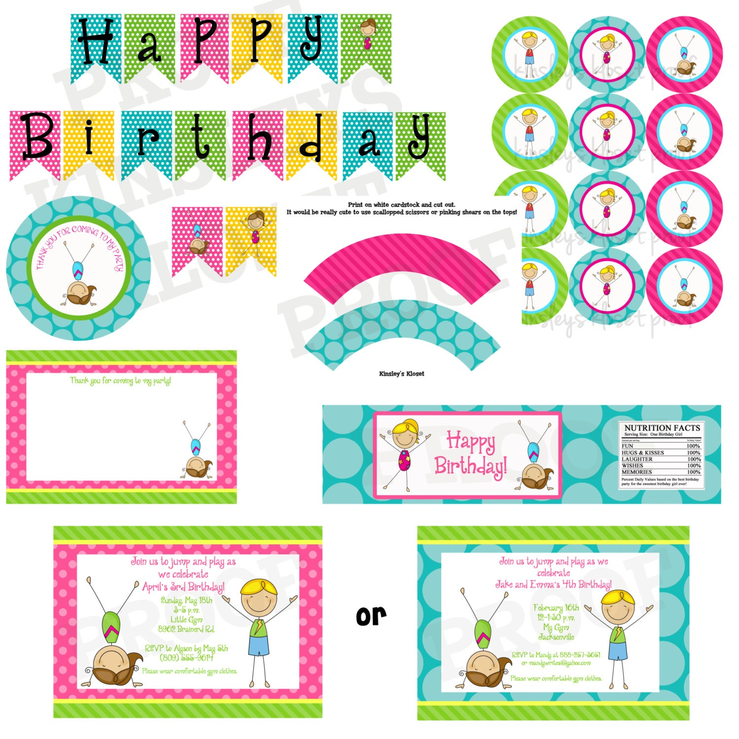 Gymnastics Party Package