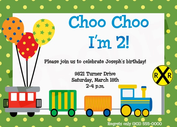 Geburtstag Zug Party Zug Einladung Zug Geburtstag Party Thoo Etsy