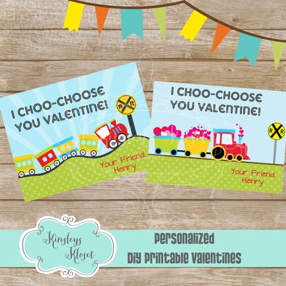 graphic about I Choo Choo Choose You Printable Card called Custom made I choo-take Oneself Valentine Tag Printable
