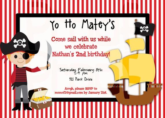 pirate party birthday invitation pirate birthday party etsy