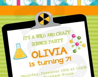 Science Party Science Invitation Scientist Birthday Science Party Favor Scientist Party Printable Scientist Birthday Party