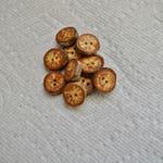 "Wood buttons wooden buttons Oak Tree branch buttons crochet buttons cowl buttons Qty of 10....3/4"" buttons  lot #1"
