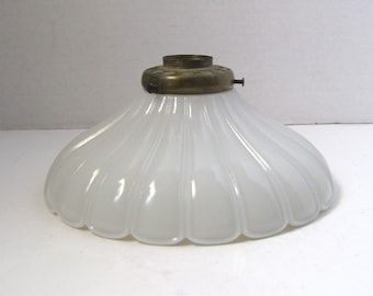 Art deco lamp shade etsy vintage white glass art deco lamp shade light cover greentooth Gallery