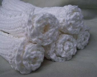 Earth Day Dishcloths/Washcloths/Babycloths  Knitted From Pure Cotton  SPECIAL PRICE 5 for 14 dollars