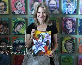 Painting Flowers with Veronica Funk