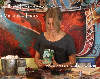 Create a Traveller's Notebook Cover with Veronica Funk