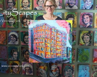 Painting CityScapes with Veronica Funk