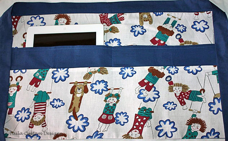 Teacher School Children Vendor Waist Half Apron iPad Playground Fabric 6 Pockets