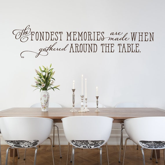 Dining Room Wall Decal Kitchen Decor The Fondest