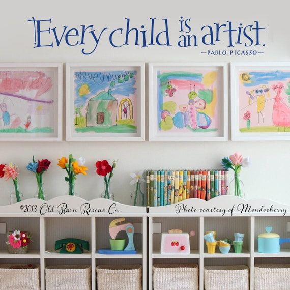 Pablo Picasso Vinyl Wall Art Every Child is an Artist