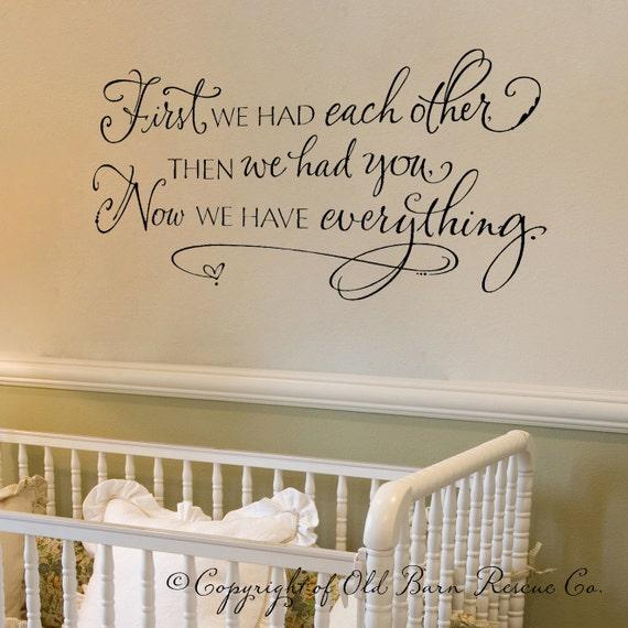 Everything Designish Baby Boy S Nursery: Items Similar To Nursery Wall Decal