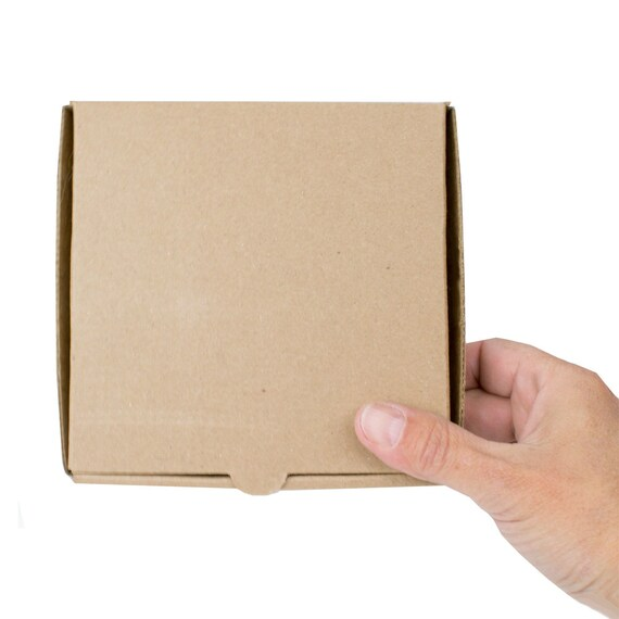 8 Kraft 5 Mini Pizza Boxes Sturdy Cardboard Food Box Party Favor Cake Box Cookie Box