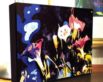 """Morning Glory Flower Art 8x10x1.5"""" and 11x14x1.5"""" Gallery Wrap Canvas Print Signed and Numbered"""