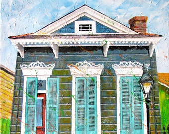 New Orleans Art - French Quarter Art - Prints Signed and Numbered - French Quarter Morning - Five Sizes - Don Cobb