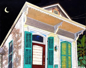 """New Orleans French Quarter Art Prints  """"Turquoise Shutters"""" Signed and Numbered, 5 Print Sizes"""