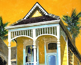 New Orleans Art - Shotgun House Art - Garden District - French Quarter Art Prints - Signed and Numbered - Five Sizes - Don Cobb