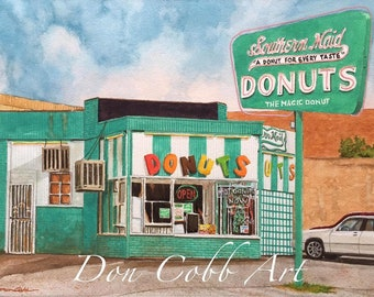 Donut Shop Art - Southern Maid - Odessa, Texas - Prints Signed and Numbered