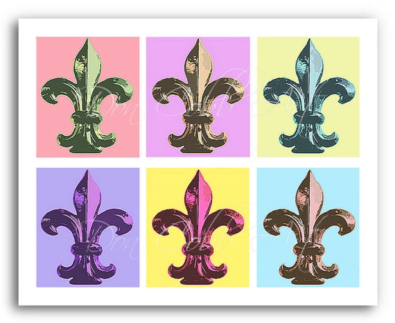 Fleur De Lis Art Pastel Fleurs Prints Signed And Etsy