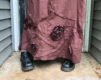 Swirls and Scrunches Skirt L