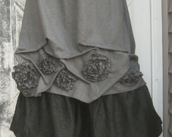 Short Swirly Scrunch Skirt