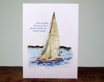 sailboat card etsy