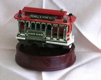 San Francisco Cable Car Music Box -  I Left my Heart in S.F. - Interactive -