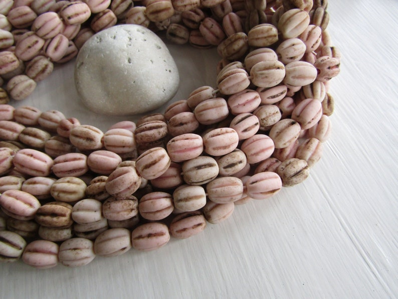 Beads Indonesian Bone Oval Tube Beads 14mm 15mm