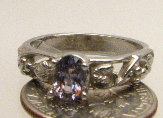 Handmade Sterling Silver Tanzanite Vine Ring