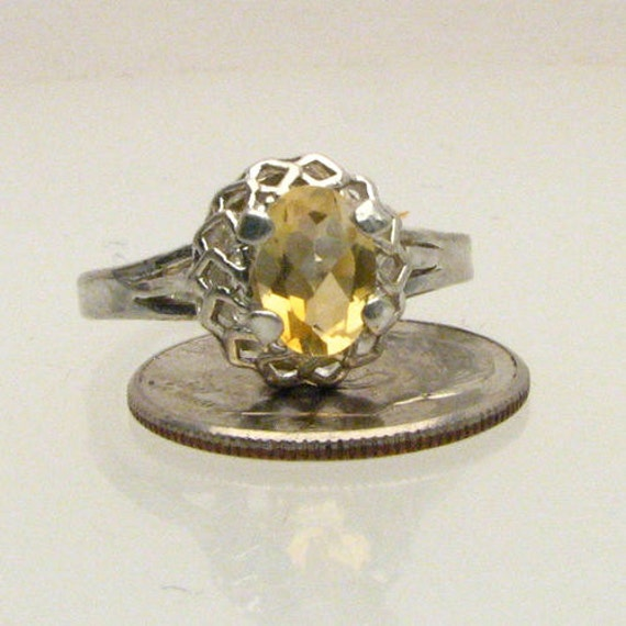 Handmade Sterling Silver Citrine Ring