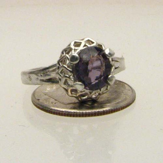 Handmade Solid Sterling Silver Spinel Ring