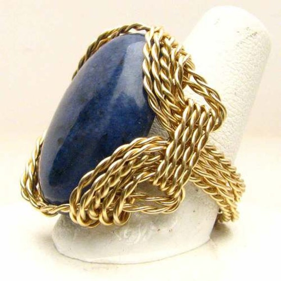 Handmade 14kt Gold Filled Blue Sodalite Ring