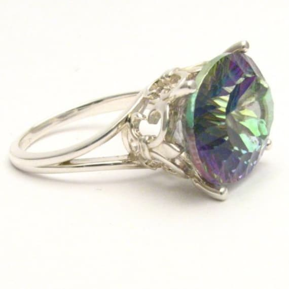 Handmade Sterling Silver Mystic Quartz Gemstone Ring