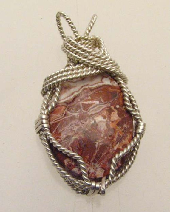 Handmade Solid Sterling Silver Wire Wrap Tree Rosetta Pendant