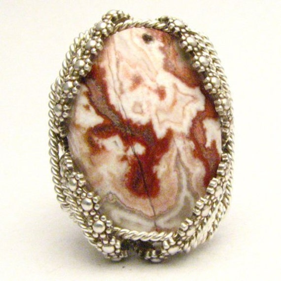 Handmade Sterling Silver Berry Wire Wrap Rosetta Ring