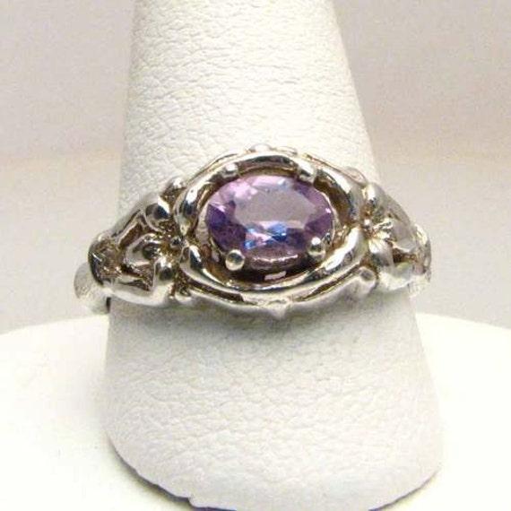 Handmade Sterling Silver Amethyst Ring