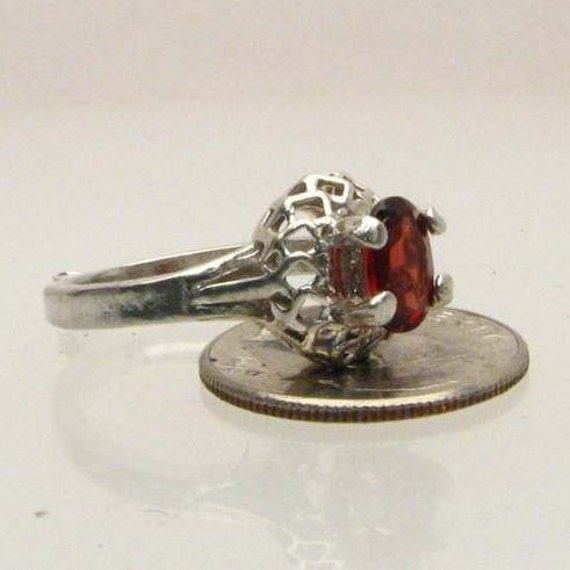 Exquisite Garnet Solid Cluster Sterling Silver Ring 6x4mm 1ct.   January birthstone.  Custom Sized to fit you.
