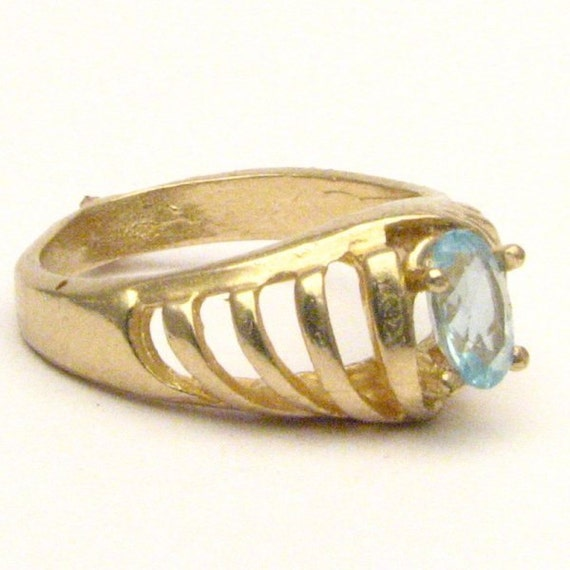 Handmade 14kt Gold Aquamarine Ring