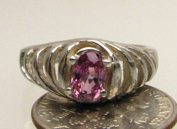 Handmade Sterling Silver Pink Spinel Ring