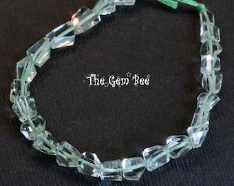Green Amethyst Gemstone Grade A 16x12-11x9MM Nugget Pebble Loose Beads 7.5 inch Half Strand 90117849-B70